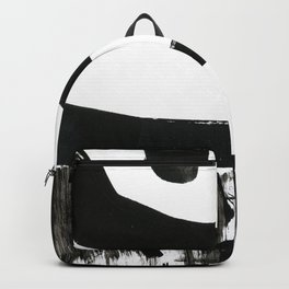 Edges of Black and White Backpack