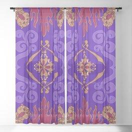 Aladdin Purple Magic Carpet Sheer Curtain