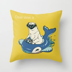 Deal With It Throw Pillow