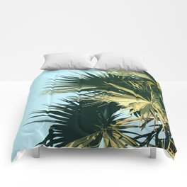 Tropical Trees Sky Exotic Comforters