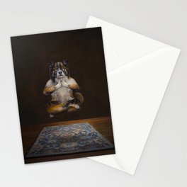 Meditating Dog Stationery Cards