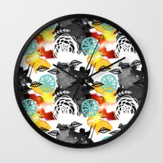 Watercolor Garden Wall Clock