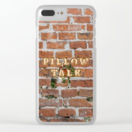 Pillow Talk - Brick Clear iPhone Case