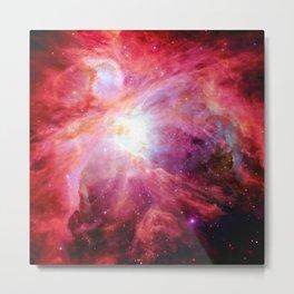 Orion nebulA. : Colorful Red Metal Print