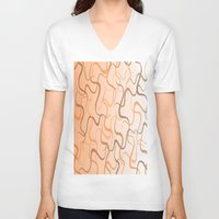 wave V-neck T-shirts featuring Wave by ArtSchool