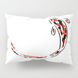 Black and Red Koi Fish Pillow Sham