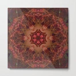 Holiday Tartan Mandala 25 Metal Print