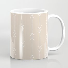 Arrow Pattern: Beige Coffee Mug