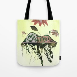 Uprooted Flowers Tote Bag
