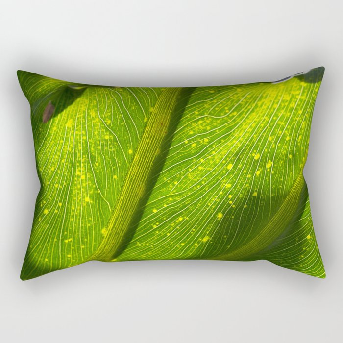 Spotted Leaf Rectangular Pillow