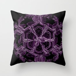 Water Turns Amethyst Throw Pillow