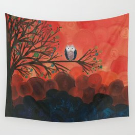 Owl Art by MiMi Stirn - Owl Singles #337 Wall Tapestry