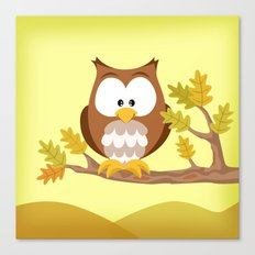 Woodland Animals Serie I. Owl Canvas Print