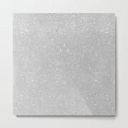 Pastel Grey Glitter Metal Print