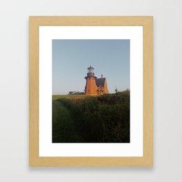 Southeast Light Block Island Framed Art Print