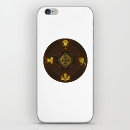 Ilvermorny Knot with House Shields iPhone Skin