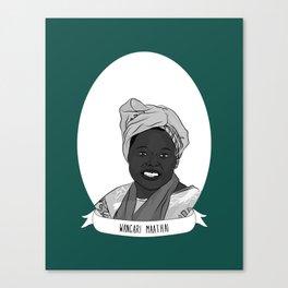 Wangari Maathai Illustrated Portrait Canvas Print