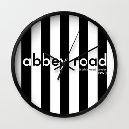 Abbey Road, St Johns Wood, London, NW8, Travel Poster Wall Clock