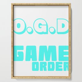 Best Trending Gaming Tshirt Design I Suffer From O.G.D Serving Tray