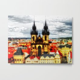 Prague Church Of Our Lady Before Tyn Metal Print