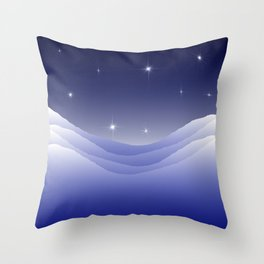 Arctic night Throw Pillow