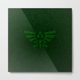 Green Triforce Metal Print