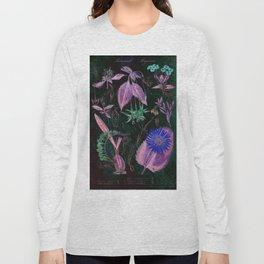 Botanical Study #3, Vintage Botanical Illustration Collage Art Long Sleeve T-shirt