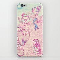 mermaids iPhone & iPod Skins featuring Mermaids by malipi