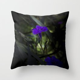 Violet flowers Throw Pillow