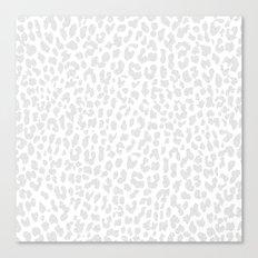 Pale Gray Leopard Canvas Print