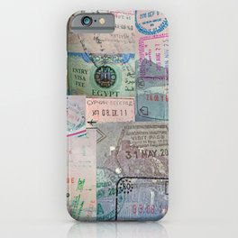 A Celebration of Passport Stamps iPhone Case