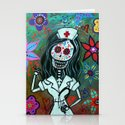 MY FAVORITE NURSE MEXICAN DAY OF THE DEAD PAINTING by prisarts