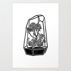 Terrarium Block Print Art Print
