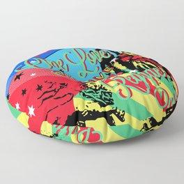 Rasta Reggae One Love Party Floor Pillow