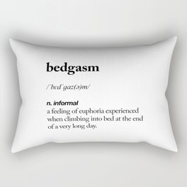 Bedgasm black and white contemporary minimalism typography design home wall decor bedroom Rectangular Pillow
