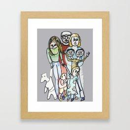 Weird Family Framed Art Print