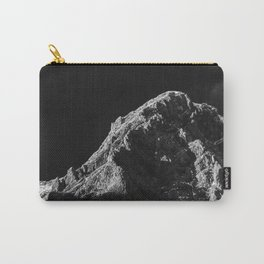 Black and white sun illuminated mountain Carry-All Pouch