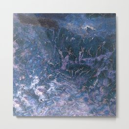 Purpley Blue Gemstone by Teresa Thompson Metal Print