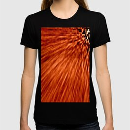 Burnt Orange Pixel Wind T-shirt