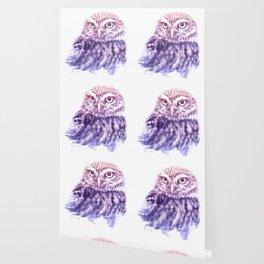 OWL SUPERIMPOSED WATERCOLOR Wallpaper