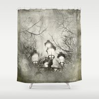 lantern Shower Curtains featuring Vintage Lantern by Victoria Herrera