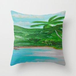 Magens' Bay, USVI by Hangin Fin TM Throw Pillow