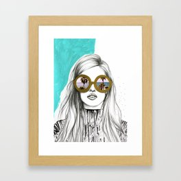Holiday vibes only Framed Art Print