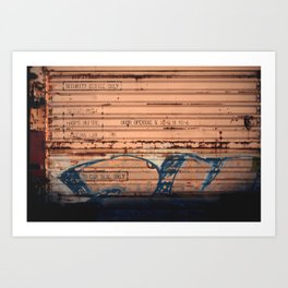 Dripping Out Me Color Rust Art Print