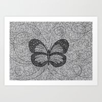 BUTTERFLY3.1 Art Print