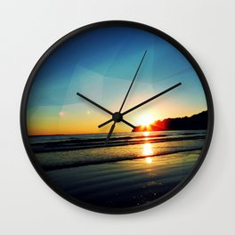 Triangle at Sunset Wall Clock