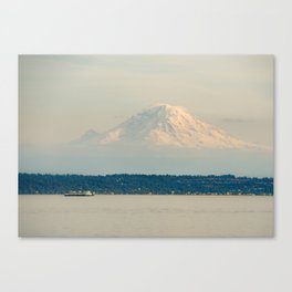 Mt. Rainier from the Ferry Canvas Print