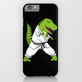 Karate T-Rex Dinosaur Ninja Martial Arts iPhone Case