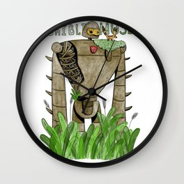 Robot soldiers on the roof of the museum Ghibli Wall Clock