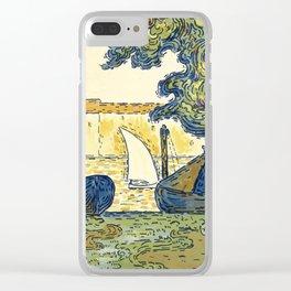 """Paul Signac """"Saint-Tropez"""" Clear iPhone Case"""